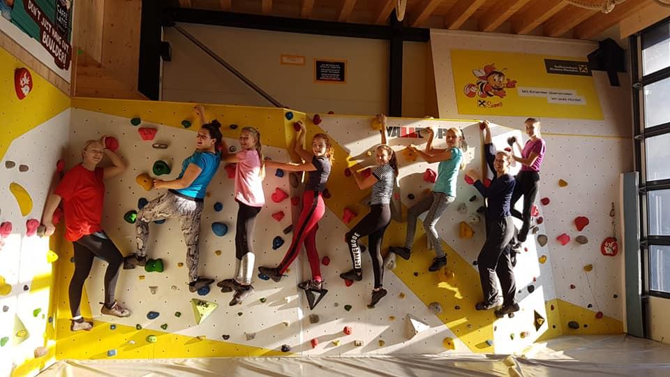 Juniorteam beim Klettern